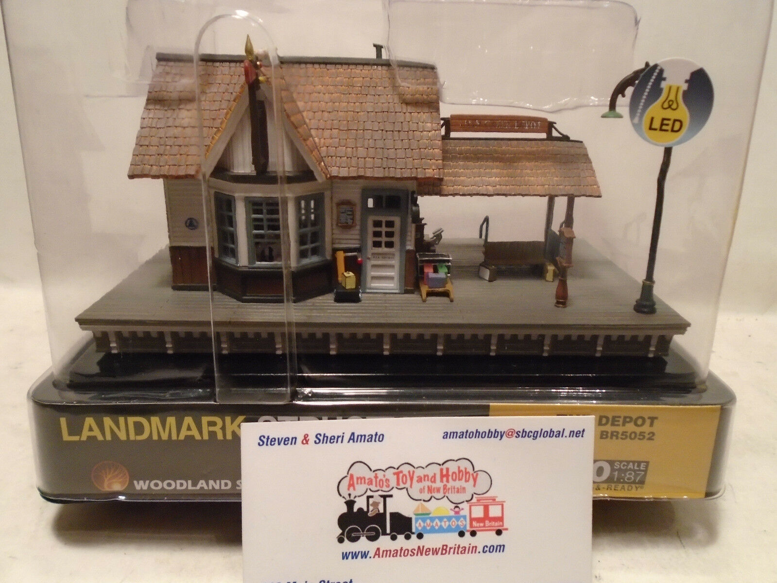 Woodland Scenics BR5052 HO Scale The Depot Built & Ready LED Lighting BUILDING