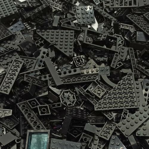 Platten gemischt Teile LEGO schwarz 1//2 kg Bausteine Basic Konvolut kilo