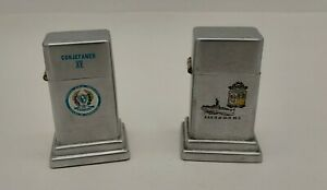 ZIPPO TABLE LIGHTER MODEL BARCROFT LOT OF 2 UNITS COLLECTION