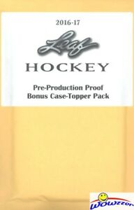 2016-17-Leaf-Hockey-Pre-Production-Proof-Bonus-Case-Topper-Sealed-Pack-with-1-1