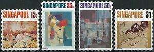 Singapore-stamps-1972-Arts-series-famous-artists-4v-set-MNH-painting-Gibbons