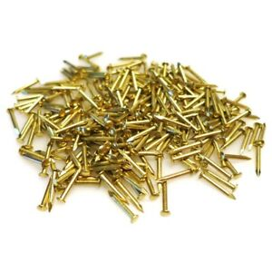Image Is Loading 300x Br Nails Small 10mm Pins Round Head