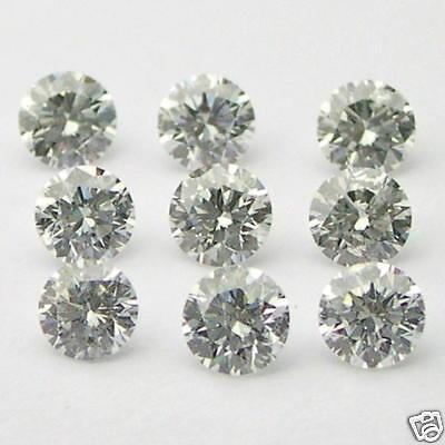 1 Carats 2.7mm WHITE ROUND BRILLIANT POLISHED DIAMONDS
