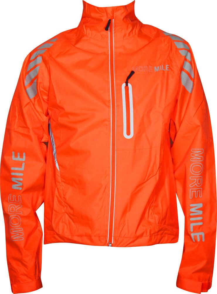 More Mile Cycle Giacca Da Uomo Elite Elite Elite Riflettente Hi-Vis alta visibilità arancione 576d3a