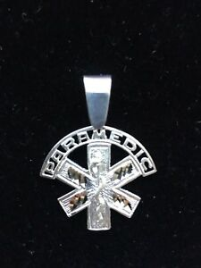 Ems firefighter jewelry paramedic star of life pendant sterling image is loading ems firefighter jewelry paramedic star of life pendant aloadofball Image collections