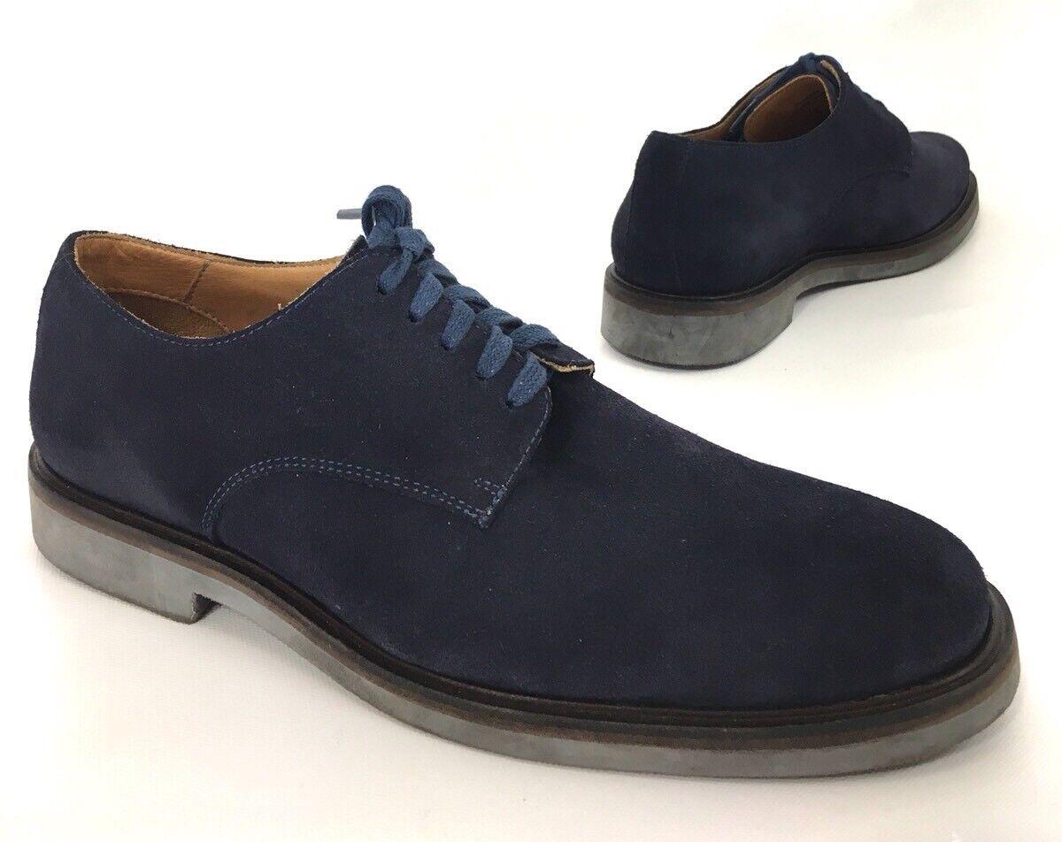 Donald J Pliner Placido Plain Toe Oxfords shoes Navy bluee Suede Size 9