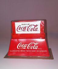Dept 56 NIP Illuminated COCA-COLA NEON SIGN AC/DC Batte