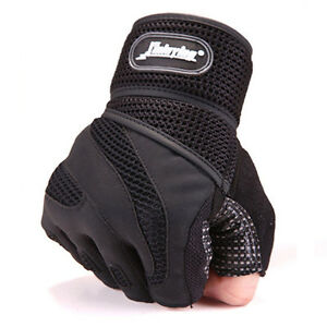 Men Weight lifting Training Gym Sports Fitness Gloves Workout Exercise Black New