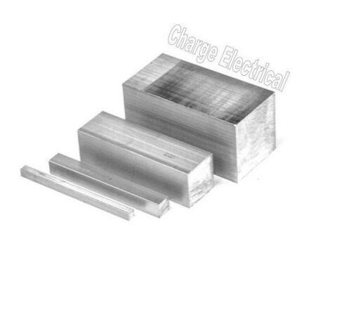 Solid 6082-T6. Block 12 Inch Lengths Aluminium solid square bar 12 Sizes
