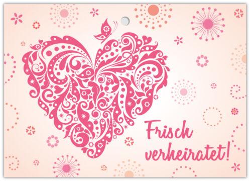 Ballonflugkarten Hochzeit Luftballonkarten  Ballonkarten Postkarten Herz Liebe