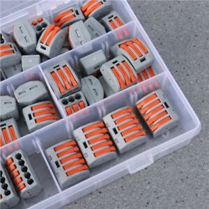 Details about 60pcs PCT Universal Compact Wire Wiring Quick Connectors on