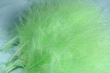 12 x plumes de MARABOU VERT PASTEL 12 a 17 cm  peche fly tying feathers