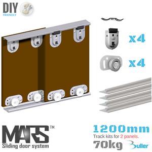 Armoire coulissante track Gear Set Kit bricolage pour armoire. alu track 1 200 mm 2 portes