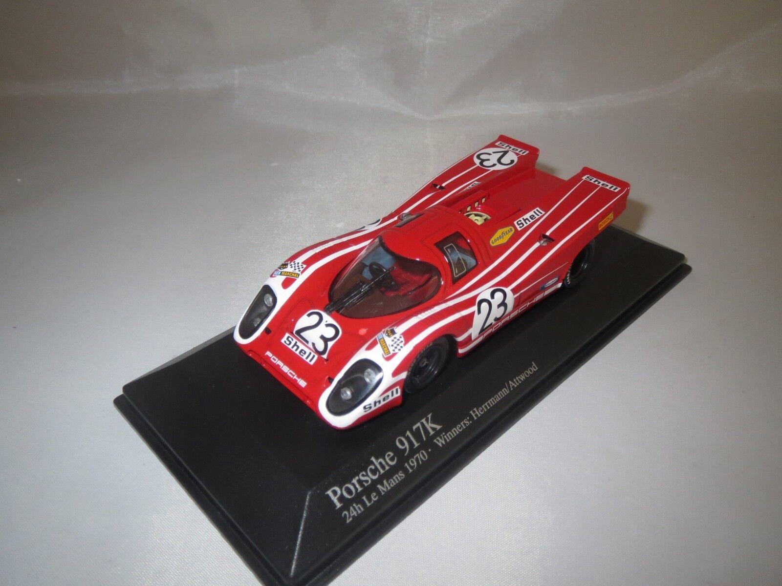 Minichamps Porsche 917k Le Mans  1970  (Herrmann Attwood  23) 1 43 en vitrine