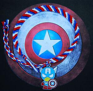 89b76d87d2448 Details about Marvel Age of Ultron Civil War Captain America friendship  bracelet with charm