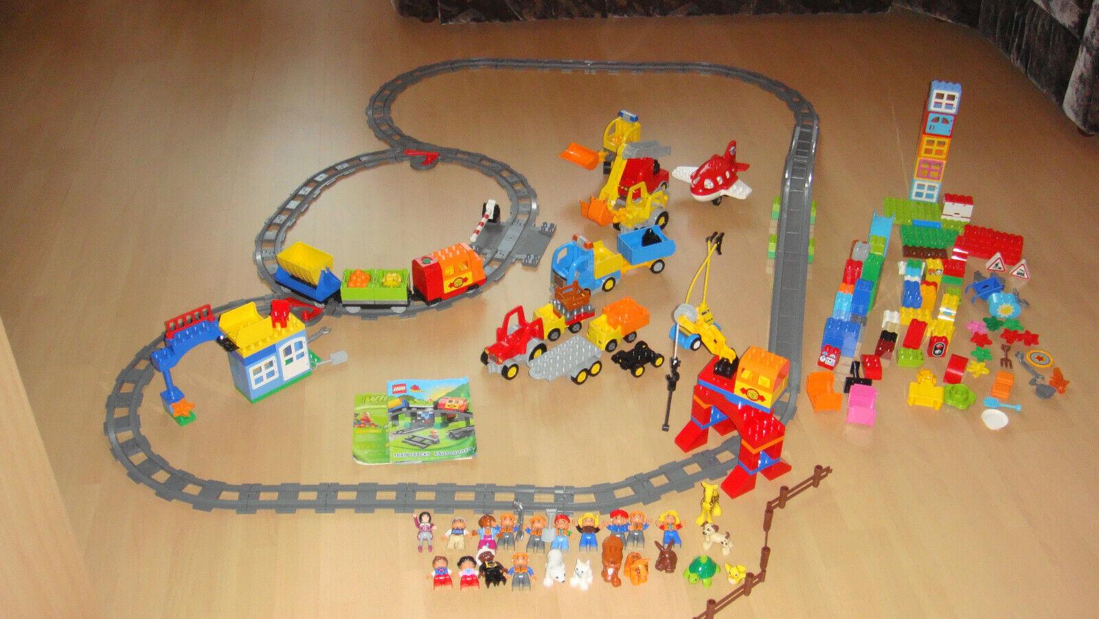 Lego Duplo Eisenbahn 10508 in OVP 10506 Flugzeug Autos Tiere Figuren ca.330 Teil