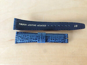 9003b7bd7a06 New - BLUE SHARK STRAP for watch 18 mm CORREA DE TIBURON AZUL para ...