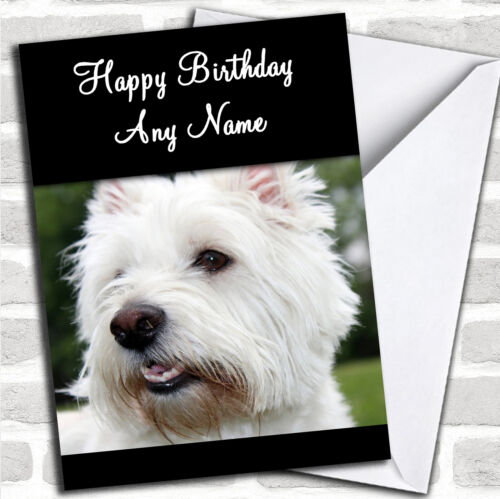 West Highland Terrier Dog Birthday Customised Card Ebay