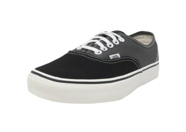 082d3e6a779b VANS Authentic Vintage 2 Tone Black Charcoal Lace Up Sneakers Adult Men  Shoes