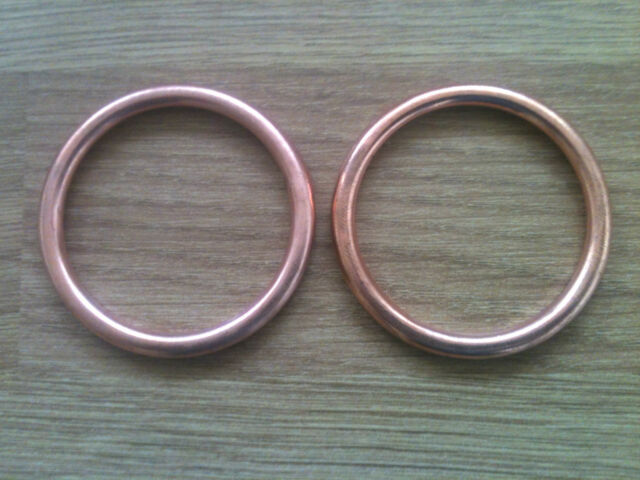 Yamaha TDM 850 Copper Exhaust Gaskets Set of 2 Gaskets 1991-2002