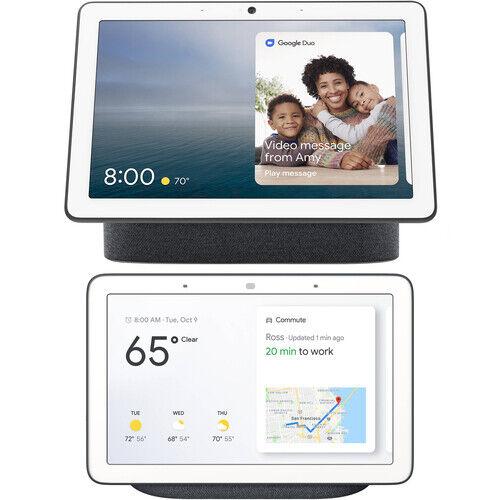 Google Nest Hub Max & Home Hub Bundle - Smart Display w/ Google Assistant