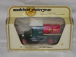 Matchbox-models-of-yesteryear-y-3-1912-FORD-MODEL-T-034-BP-034-Neufs-dans-neuf-dans-sa-boite