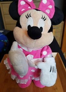 Disney-Store-Standing-Minnie-Mouse-Plays-Theme-Tune-38cm