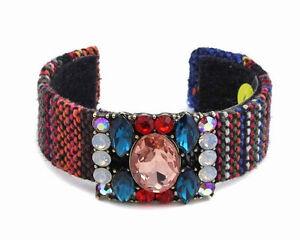 Fabric-Multi-Colored-Cuff-With-Multi-Colored-Rhinestones