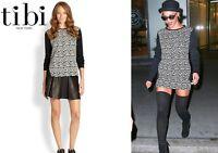 Tibi Leopard Knit Easy Sweatshirt Sweater Seen On Celebrity Size 6 $245