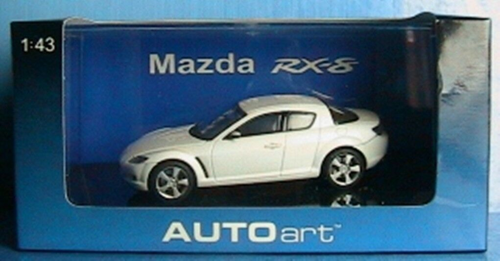 MAZDA RX-8 blanc LHD AUTOART   55905 1 43 JAPAN CAR NEW VOITURE MINIATURE WEISS