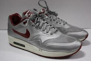 Details about Nike Air Max 1 schoens HYP QS #633087 006 Night Track Silver Red Hyperfuse SZ 11