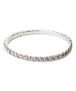 Details About Swarovski Elements Crystal Sterling Silver Stretch Tennis Bracelet