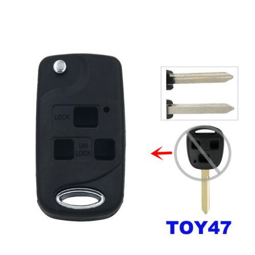 3 Button Flip Conversion Key Fob Case for Toyota YARIS RAV4 TOWN ACE AVALO TOY47