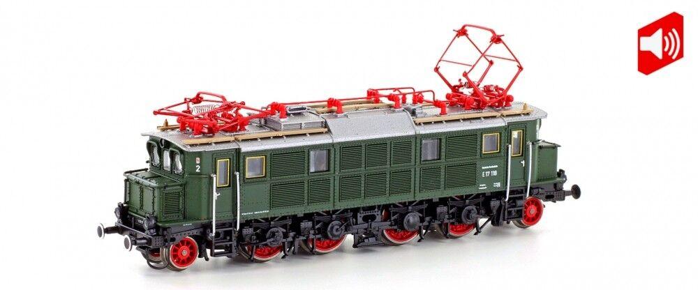 Hobbytrain N 2892s E-Lok BR e17 DB VERDE, ep. III Sound Merce Nuova