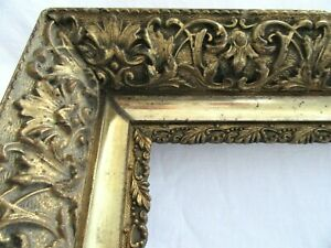 ANTIQUE-FITS-15-5-034-X-22-5-034-GOLD-GILT-ORNATE-WOODEN-FRAME-FINE-ART-VICTORIAN