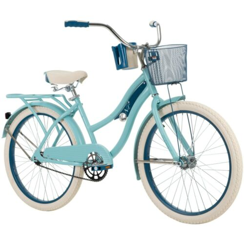 """Huffy 24/"""" Nel Lusso Girls/' Cruiser Bike Blue Free shipping from USA New"""