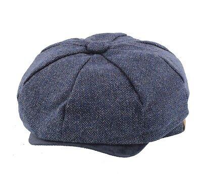 Thomas Shelby Peaky Blinder Cappello HERRINGBONE Cap-Cappello da Strillone Gatsby Baker Boy