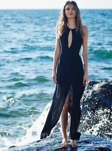 Stone-Cold-Fox-Owen-Gown-Black-Size-2-med-small-slit-long-maxi-sexy-350-21-M