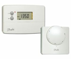 danfoss ts715si 087n6517j8 room thermostat combi pack 5013567410255 ebay. Black Bedroom Furniture Sets. Home Design Ideas