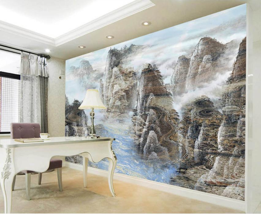 3D Paint Hills 4062 Wallpaper Murals Wall Print Wallpaper Mural AJ WALL UK Carly