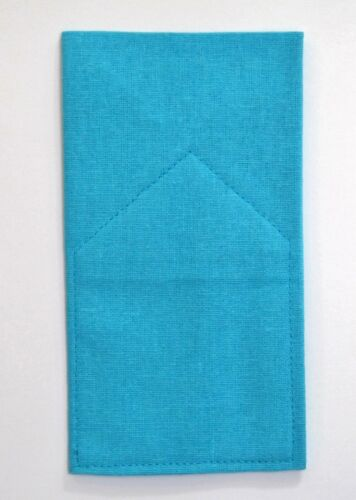 POCKET SQUARE Linen Flat Top CUSTOM  Pre-folded /& Sewn