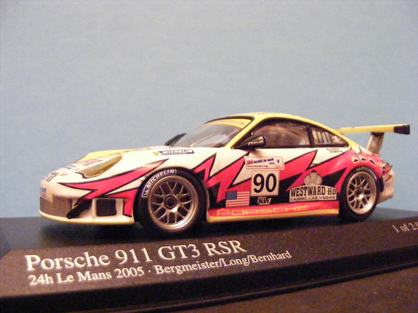 Porsche 911 GT 3 RSR  Lemans 2005 No 90 Bergmeister Long Bernhard 1 43rd Scale
