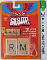 Scrabble Slam Game Mini Card Clip-on Basic Fun Miniature Hasbro Travel Words