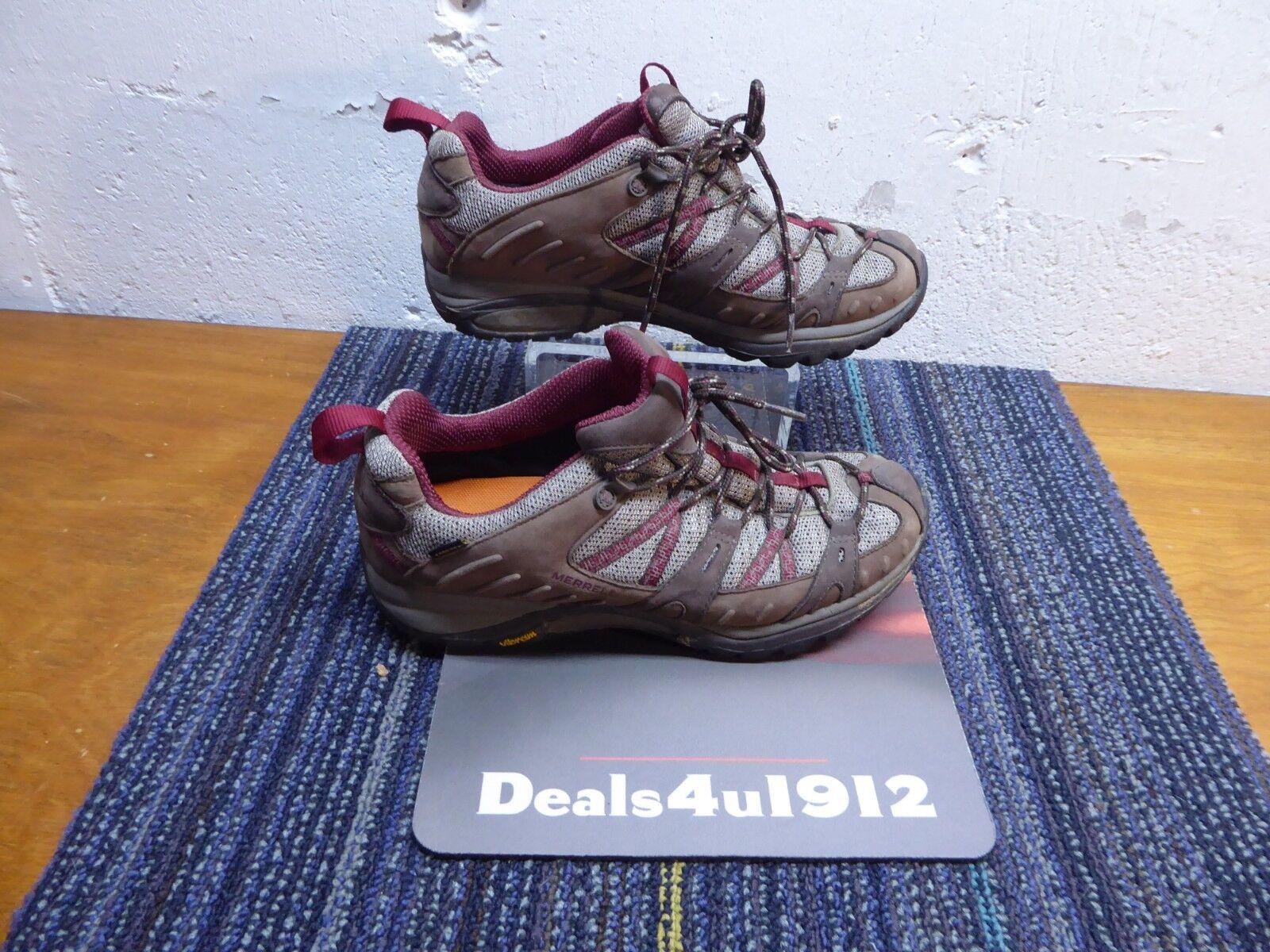 Merrell Siren Sport Women's Gore tex Hiking shoes US 9 Brown Leather Waterproof