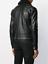 Cuir Noir Shirt Pour Hommes Col en Fourrure Motard Moto Taille S M L XL XXL custom fit