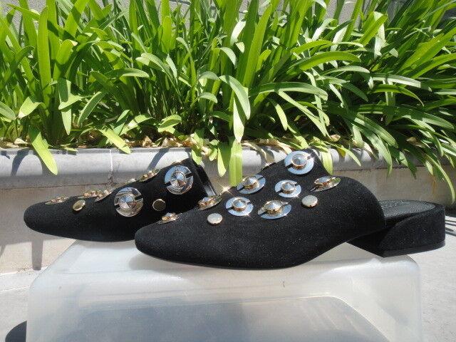 nuovo sadico Mercedes Castillo LUCINDA nero Suede Mule w Embellishments  585, 585, 585, Wmn's US 8.5M  all'ingrosso economico e di alta qualità
