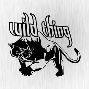Wild-Thing-Panther-Raubkatze-Tuning-Schwarz-Auto-Vinyl-Decal-Sticker-Aufkleber