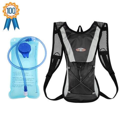 2L Hydration Pack Water Rucksack Backpack Hiking Cycling Running Bladder Bag UK