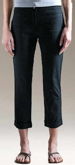 NWT Eileen Fisher Organic Cotton Stretch Twill Cropped W  Cuff Trouser Pants S
