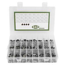 24 Value 840pcs Transistor To 92 Assortment Kit Npn Pnp 2n2222 S9018 Bc327 Usa